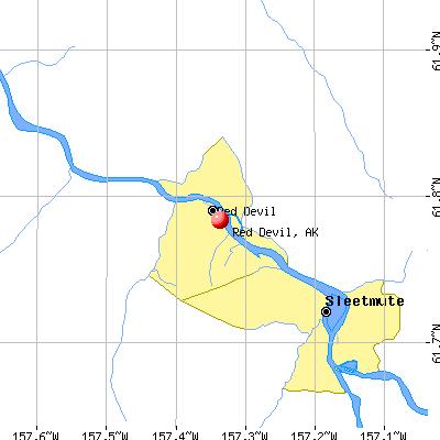 Red Devil, AK map