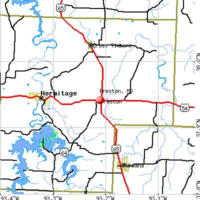Preston, MO map