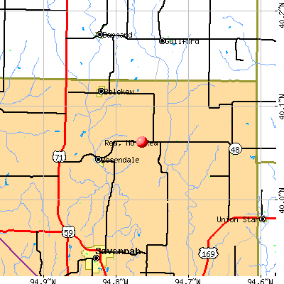 Rea, MO map