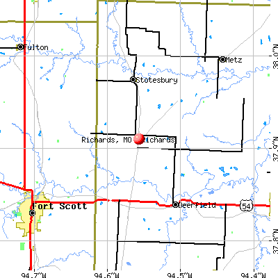 Richards, MO map