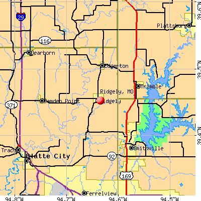 Ridgely, MO map