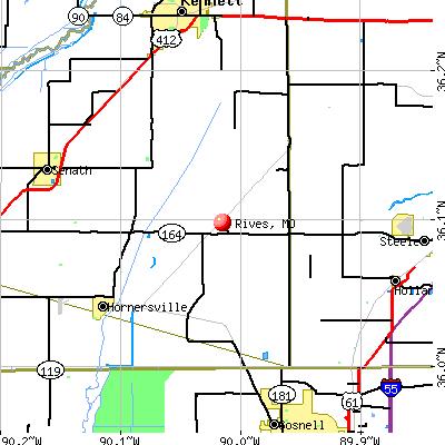Rives, MO map