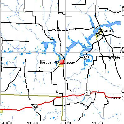 Roscoe, MO map