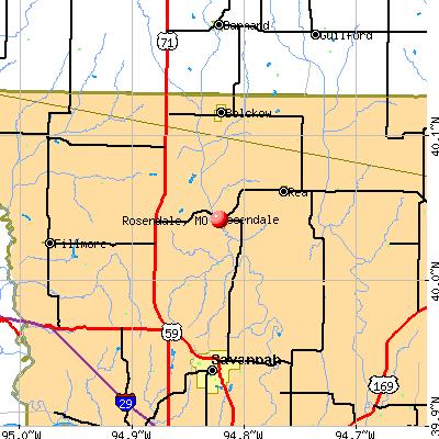 Rosendale, MO map