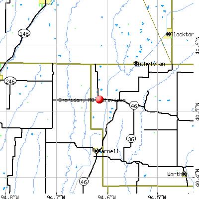 Sheridan, MO map