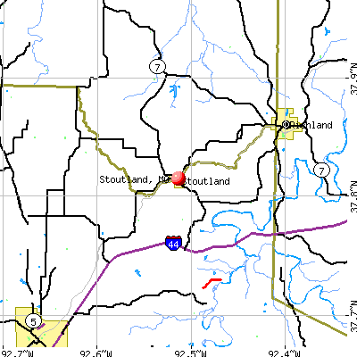 Stoutland, MO map