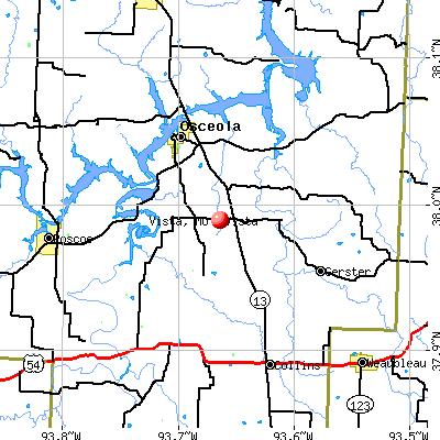Vista, MO map