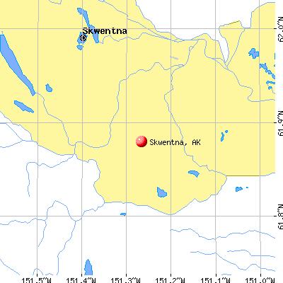 Skwentna, AK map