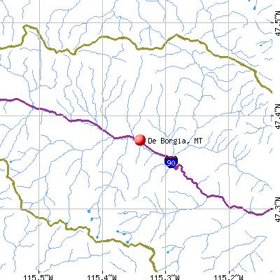 De Borgia, MT map