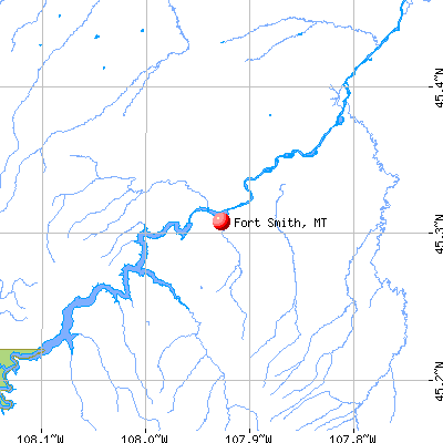 Fort Smith, MT map