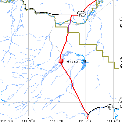 Harrison, MT map