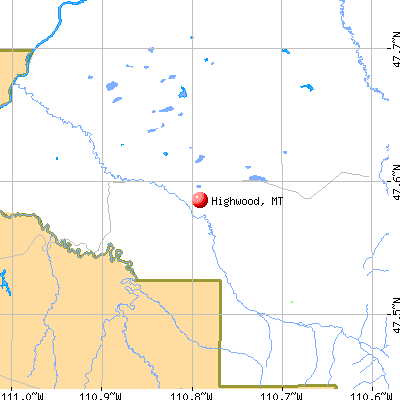 Highwood, MT map