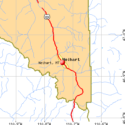 Neihart, MT map