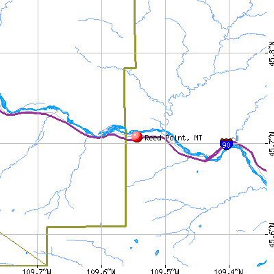 Reed Point, MT map