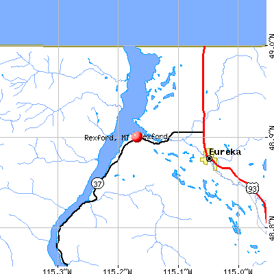 Rexford, MT map