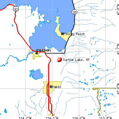 Turtle Lake, MT map