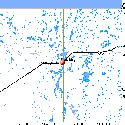 Westby, MT map