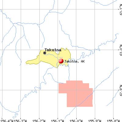 Takotna, AK map