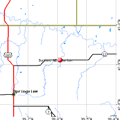 Burton, NE map