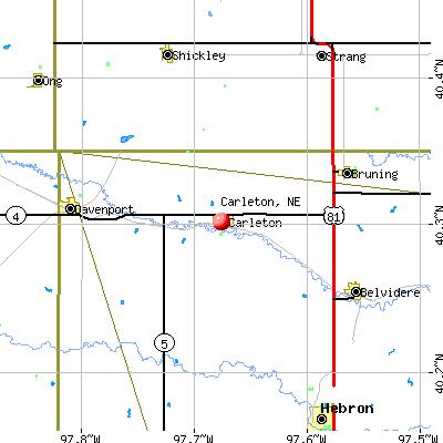 Carleton, NE map