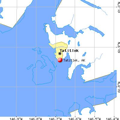 Tatitlek, AK map