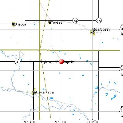 Daykin, NE map