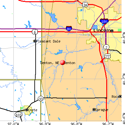Denton, NE map