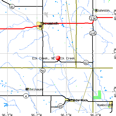 Elk Creek, NE map