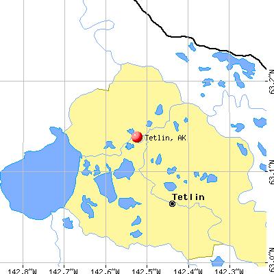 Tetlin, AK map