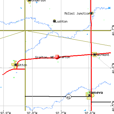 Grafton, NE map