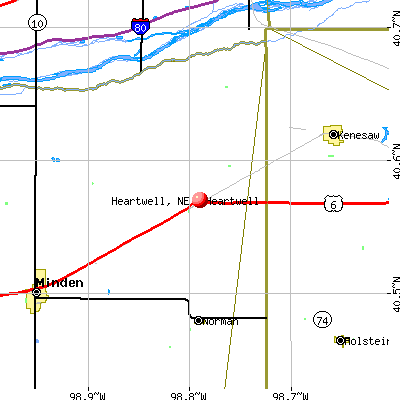 Heartwell, NE map