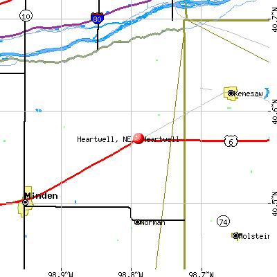 Heartwell, NE map
