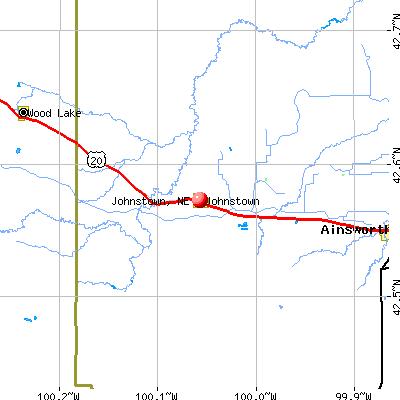 Johnstown, NE map