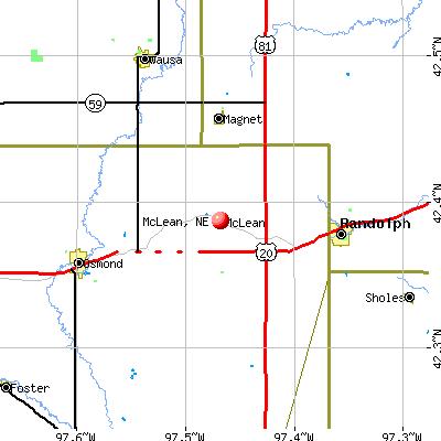 McLean, NE map