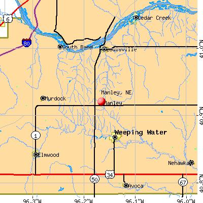 Manley, NE map