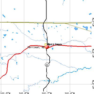 Merriman, NE map