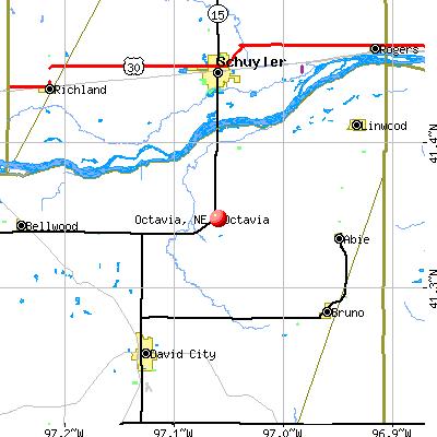 Octavia, NE map