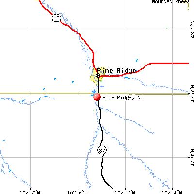 Pine Ridge, NE map