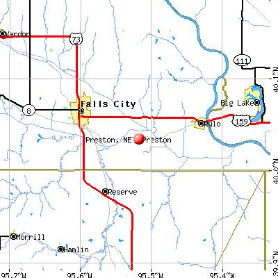Preston, NE map