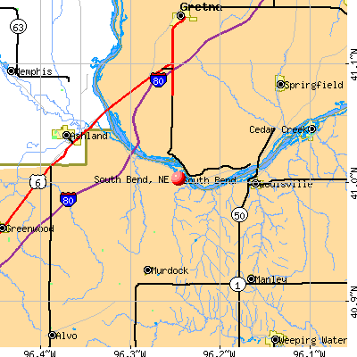 South Bend, NE map