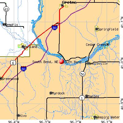 South Bend, NE map