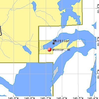 Whittier Alaska AK 99693 Profile Population Maps