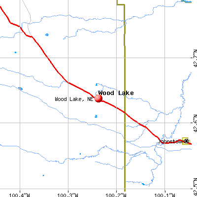 Wood Lake, NE map