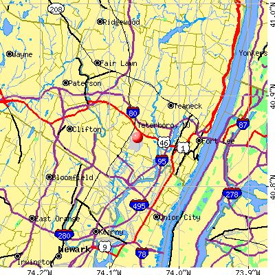 Teterboro, NJ map