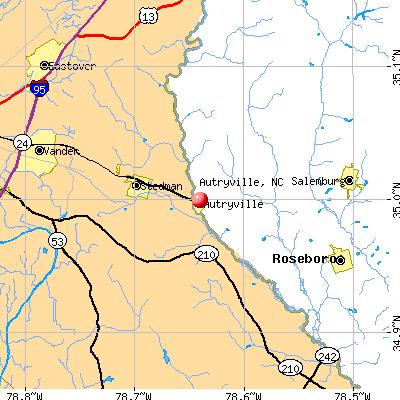 Autryville, NC map