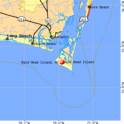 Bald Head Island, NC map