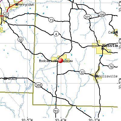 Bodcaw, AR map