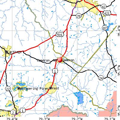 Cameron, NC map