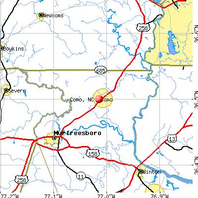 Como, NC map