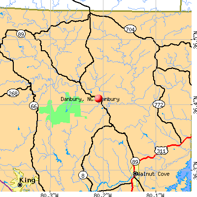 Danbury, NC map